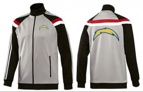 Wholesale NFL Los Angeles Chargers Team Logo Jacket Grey