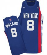 Wholesale Cheap New Jersey Nets #8 Deron Williams ABA Hardwood Classic Blue Swingman Jersey