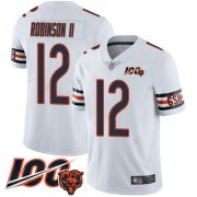 Wholesale Cheap Nike Bears #12 Allen Robinson II White Youth Stitched NFL 100th Season Vapor Limited Jersey