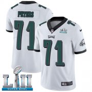 Wholesale Cheap Nike Eagles #71 Jason Peters White Super Bowl LII Men's Stitched NFL Vapor Untouchable Limited Jersey