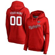 Wholesale Cheap Washington Nationals Majestic Women's 2019 World Series Champions Custom Pullover Hoodie Red