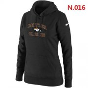 Wholesale Cheap Women's Nike Denver Broncos Heart & Soul Pullover Hoodie Black