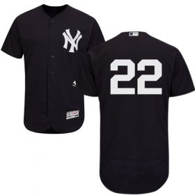 Wholesale Cheap Yankees #22 Jacoby Ellsbury Navy Blue Flexbase Authentic Collection Stitched MLB Jersey