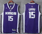 Wholesale Cheap Men's Sacramento Kings #15 DeMarcus Cousins NEW Purple Stitched NBA 2016-17 adidas Revolution 30 Swingman Jersey