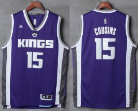 Wholesale Cheap Men\'s Sacramento Kings #15 DeMarcus Cousins NEW Purple Stitched NBA 2016-17 adidas Revolution 30 Swingman Jersey