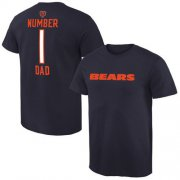 Wholesale Cheap Men's Chicago Bears Pro Line College Number 1 Dad T-Shirt Navy