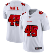 Wholesale Cheap Tampa Bay Buccaneers #45 Devin White White Men's Nike Team Logo Dual Overlap Limited NFL Jersey