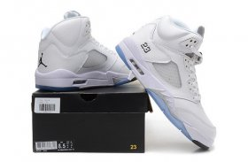 Wholesale Cheap Air Jordan 5 Retro Shoes white/Metallic Silver