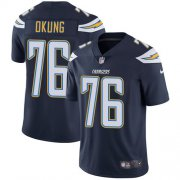 Wholesale Cheap Nike Chargers #76 Russell Okung Navy Blue Team Color Men's Stitched NFL Vapor Untouchable Limited Jersey