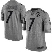 Wholesale Nike Steelers #7 Ben Roethlisberger Gray Men's Stitched NFL Limited Gridiron Gray Jersey