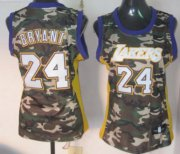 Wholesale Cheap Los Angeles Lakers #24 Kobe Bryant Camo Fashion Womens Jersey