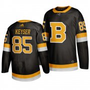 Wholesale Cheap Adidas Boston Bruins #85 Kyle Keyser Black 2019-20 Authentic Third Stitched NHL Jersey