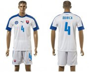Wholesale Cheap Slovakia #4 Durica Home Soccer Country Jersey