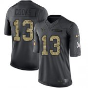 Wholesale Cheap Nike Texans #13 Brandin Cooks Black Youth Stitched NFL Limited 2016 Salute to Service Jersey