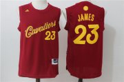 Wholesale Cheap Men's Cleveland Cavaliers #23 LeBron James adidas Burgundy Red 2016 Christmas Day Stitched NBA Swingman Jersey