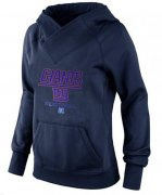 Wholesale Cheap Women's New York Giants Big & Tall Critical Victory Pullover Hoodie Navy Blue