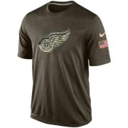 Wholesale Cheap Men's Detroit Red Wings Salute To Service Nike Dri-FIT T-Shirt