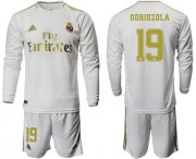 Wholesale Cheap Real Madrid #19 Odriozola White Home Long Sleeves Soccer Club Jersey