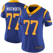 Wholesale Cheap Nike Rams #77 Andrew Whitworth Royal Blue Alternate Women's Stitched NFL Vapor Untouchable Limited Jersey