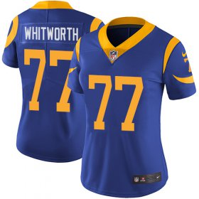 Wholesale Cheap Nike Rams #77 Andrew Whitworth Royal Blue Alternate Women\'s Stitched NFL Vapor Untouchable Limited Jersey