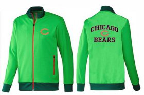 Wholesale NFL Chicago Bears Heart Jacket Green