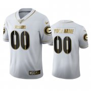 Wholesale Cheap Green Bay Packers Custom Men's Nike White Golden Edition Vapor Limited NFL 100 Jersey