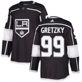 Wholesale Cheap Adidas Kings #99 Wayne Gretzky Black Home Authentic Stitched NHL Jersey