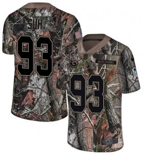 Wholesale Cheap Nike Rams #93 Ndamukong Suh Camo Youth Stitched NFL Limited Rush Realtree Jersey