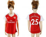 Wholesale Cheap Women's Arsenal #25 Jenkinson Home Soccer Club Jersey