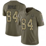 Wholesale Cheap Nike Colts #84 Jack Doyle Olive/Camo Men's Stitched NFL Limited 2017 Salute To Service Jersey