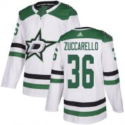 Wholesale Cheap Adidas Stars #36 Mats Zuccarello White Road Authentic Youth Stitched NHL Jersey