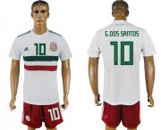 Wholesale Cheap Mexico #10 G.Dos Santos Away Soccer Country Jersey