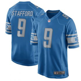 Wholesale Cheap Nike Lions #9 Matthew Stafford Light Blue Team Color Youth Stitched NFL Elite Jersey