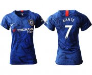 Wholesale Cheap Women's Chelsea #7 Kante Home Soccer Club Jersey