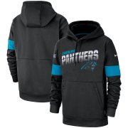 Wholesale Cheap Carolina Panthers Nike Sideline Team Logo Performance Pullover Hoodie Black