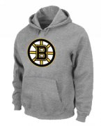Wholesale Cheap NHL Boston Bruins Big & Tall Logo Pullover Hoodie Grey