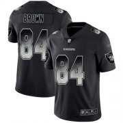 Wholesale Cheap Nike Raiders #84 Antonio Brown Black Men's Stitched NFL Vapor Untouchable Limited Smoke Fashion Jersey