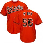 Wholesale Cheap Orioles #56 Darren O'Day Orange Team Logo Fashion Stitched MLB Jersey