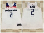 Wholesale Cheap Men's Washington Wizards #2 John Wall White 2017-2018 Nike Swingman Stitched NBA Jersey