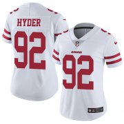 Wholesale Cheap Nike 49ers #92 Kerry Hyder White Women's Stitched NFL Vapor Untouchable Limited Jersey
