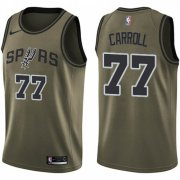 Wholesale Cheap Nike Spurs #77 DeMarre Carroll Green NBA Swingman Salute to Service Jersey