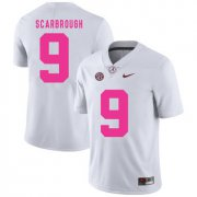 Wholesale Cheap Alabama Crimson Tide 9 Bo Scarbrough White 2017 Breast Cancer Awareness College Football Jersey