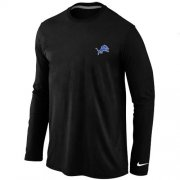 Wholesale Cheap Nike Detroit Lions Sideline Legend Authentic Logo Long Sleeve T-Shirt Black