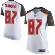 Wholesale Cheap Nike Buccaneers #87 Rob Gronkowski White Women's Stitched NFL New Elite Jersey