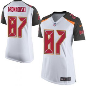 Wholesale Cheap Nike Buccaneers #87 Rob Gronkowski White Women\'s Stitched NFL New Elite Jersey