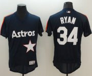 Wholesale Cheap Astros #34 Nolan Ryan Navy Blue Flexbase Authentic Collection Cooperstown Stitched MLB Jersey