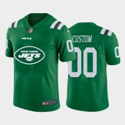 Wholesale Cheap New York Jets Custom Green Men's Nike Big Team Logo Vapor Limited NFL Jersey