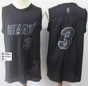 Wholesale Cheap Heat #3 Dwyane Wade Black Basketball MVP Swingman Jersey