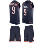 Wholesale Cheap Nike Bears #9 Jim McMahon Navy Blue Team Color Men's Stitched NFL Limited Tank Top Suit Jersey
