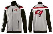 Wholesale Cheap NFL Tampa Bay Buccaneers Team Logo Jacket Grey